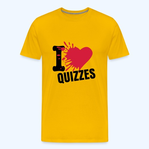 I Love Quizzes in Yellow - Men's Premium T-Shirt