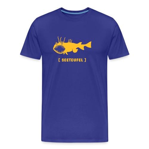 Herren Shirt Fisch Raubfisch Seeteufel Sea Devil goldgelb Tiershirt Shirt Tiermotiv - Männer Premium T-Shirt