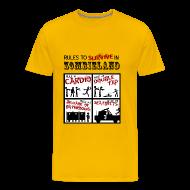 Camisetas ~ Camiseta premium hombre ~ Zombieland - rules to survive
