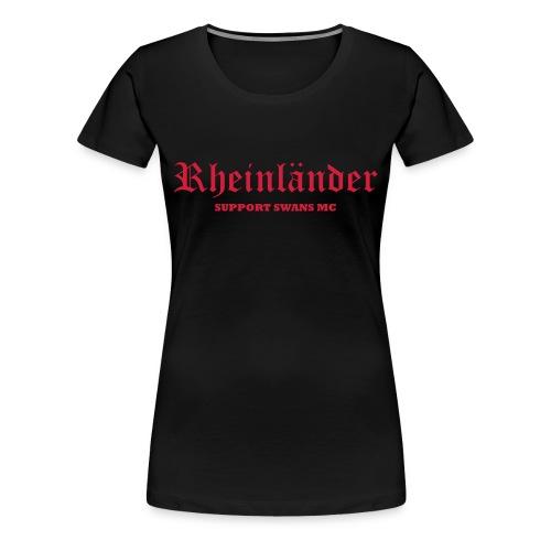 Frauen Girlieshirt, schwarz rot - Frauen Premium T-Shirt