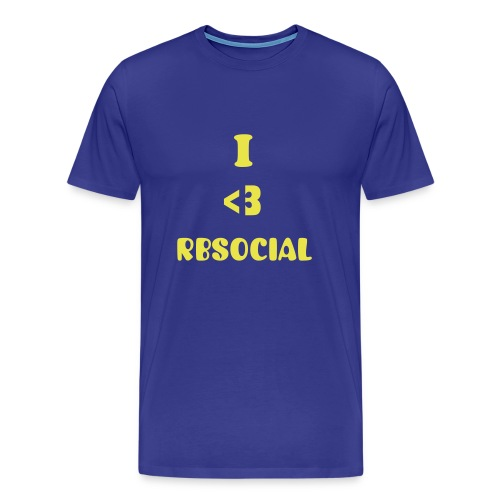 Official Blue I heart RBSocial T-Shirt - Men's Premium T-Shirt