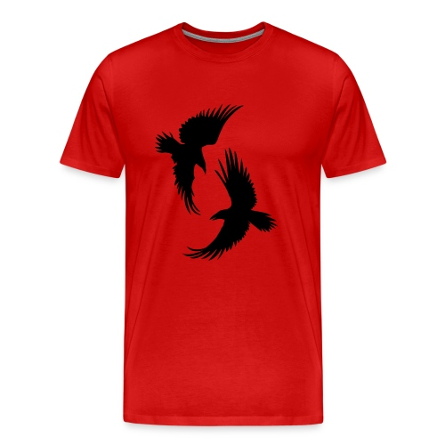 Hugin&Munin-svart Klassisk T-shirt herr - Premium-T-shirt herr