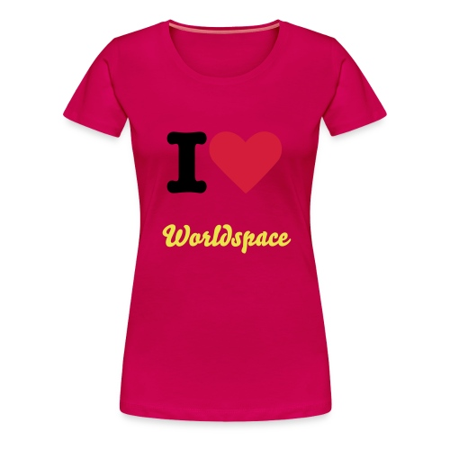 I Love Worldspace - Frauen Premium T-Shirt