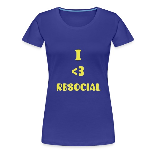 Official Blue I heart RBSocial T-Shirt - Women's Premium T-Shirt
