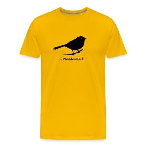 Männer Shirt Meise Vogel Vollmeise schwarz - Männer Premium T-Shirt
