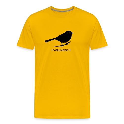 Männer Shirt Meise Vogel Vollmeise schwarz Tiershirt Shirt Tiermotiv - Männer Premium T-Shirt