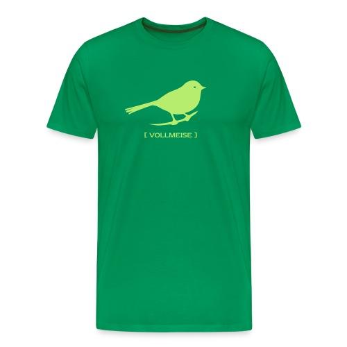 Männer Shirt Übergröße Meise Vogel Vollmeise hellgrün Tiershirt Shirt Tiermotiv - Männer Premium T-Shirt