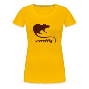 Damen Shirt rattig Ratte Maus Nager Wanderratte Tiershirt Shirt Tiermotiv - Frauen Premium T-Shirt