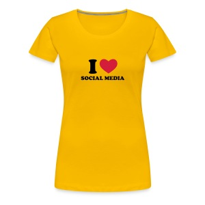 I LOVE SOCIAL MEDIA - Women's Premium T-Shirt
