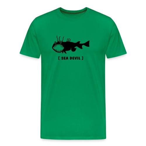 Herren Shirt Fisch Raubfisch Seeteufel Sea Devil schwarz Tiershirt Shirt Tiermotiv - Männer Premium T-Shirt