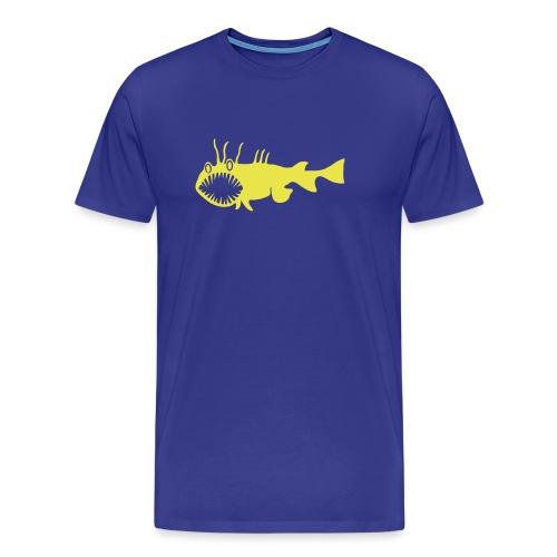 Herren Shirt Fisch Raubfisch Seeteufel Sea Devil gelb Tiershirt Shirt Tiermotiv - Männer Premium T-Shirt