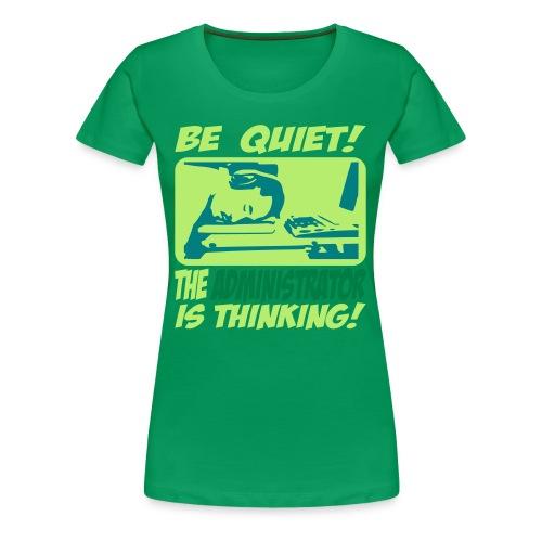 Trink Kaffee - Frauen Premium T-Shirt