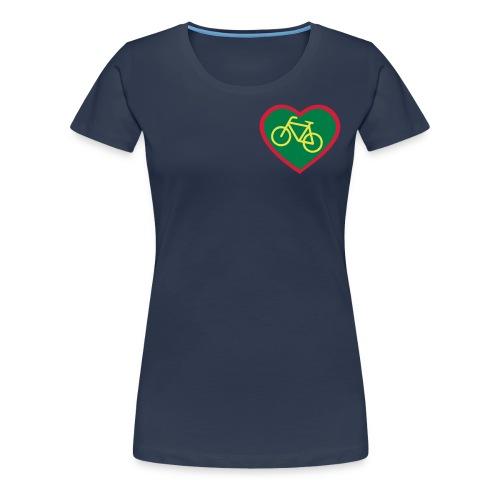 Fahrrad Herz  - Frauen Premium T-Shirt