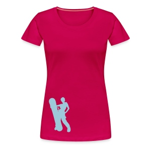 Girls snowboarding tee - Women's Premium T-Shirt