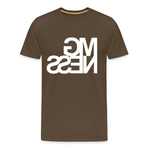 MGness Brown White classic - Männer Premium T-Shirt