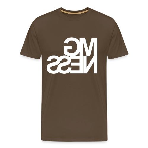 MGness Brown White classic - Männer Premium T-Shirt