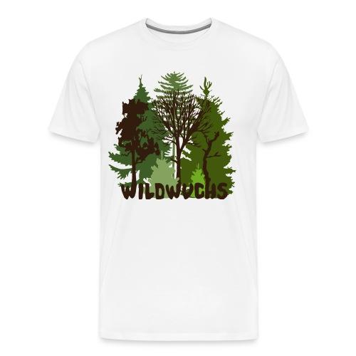 Herren Shirt Wald Baum Bäume Wild Wildwuchs Tiershirt Shirt Tiermotiv - Männer Premium T-Shirt