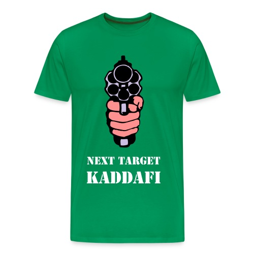T-shirt Shoot Kaddafi - T-shirt Premium Homme