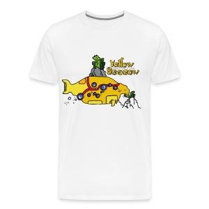 F Zschiedrich Yellow Seacow - Männer Premium T-Shirt