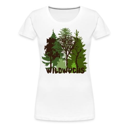 Damen Shirt Wald Baum Bäume Wild Wildwuchs Tiershirt Shirt Tiermotiv - Frauen Premium T-Shirt