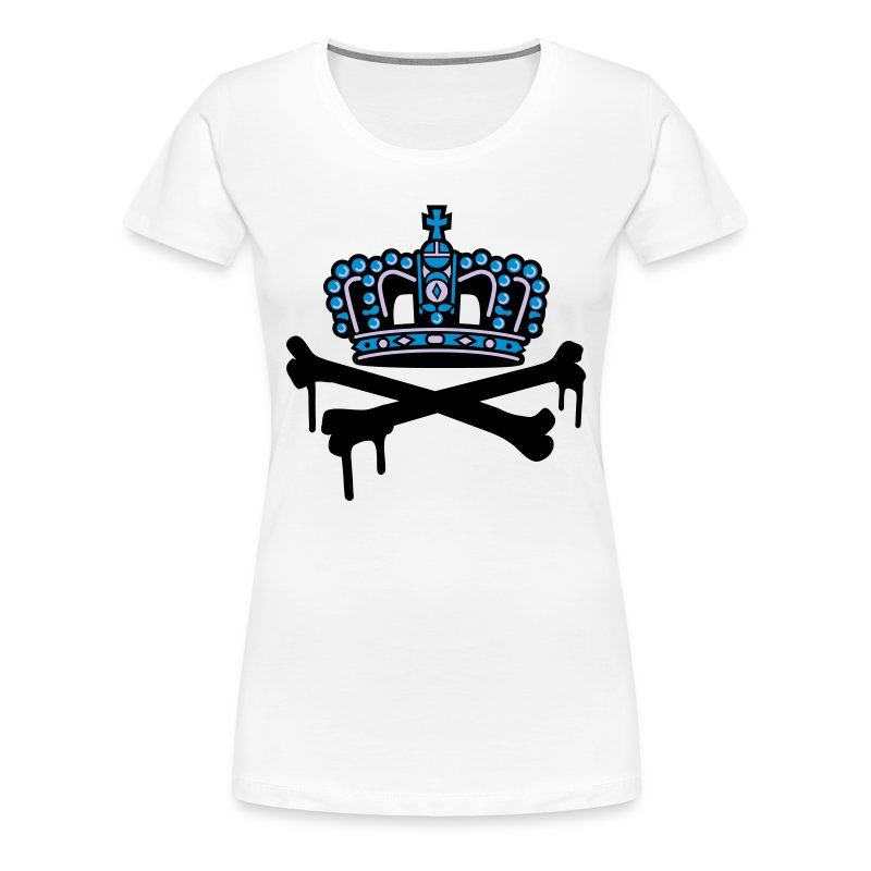 crown krone king - Frauen Premium T-Shirt
