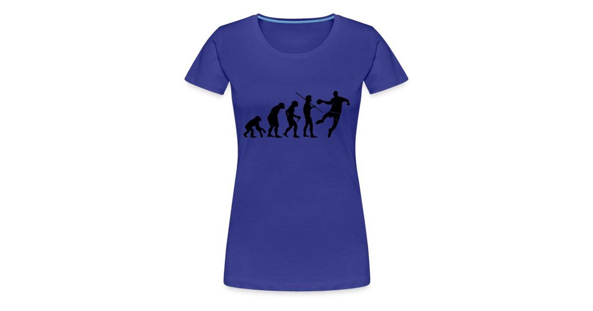 Tee-shirts Handball   Tee-Shirt femme Handball Evolution impression noir - T -shirt Premium Femme 14d2160eefb9