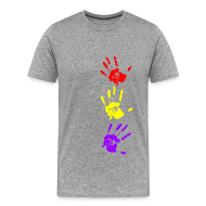 Camisetas ~ Camiseta premium hombre ~ Manos tricolor