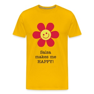Salsa makes me HAPPY - Men's Premium T-Shirt