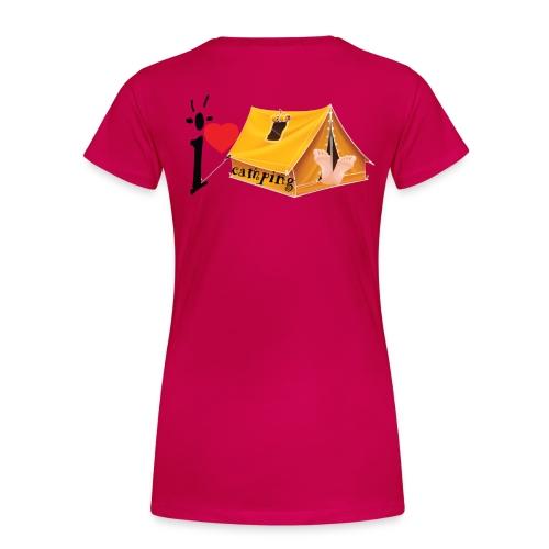 I love Camping - T-shirt Premium Femme