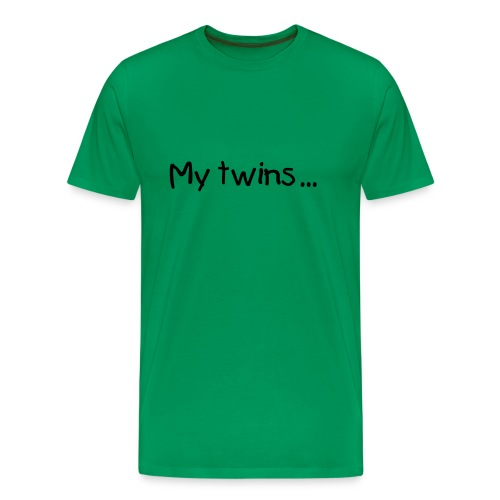 My twins...are homemade - Herre premium T-shirt