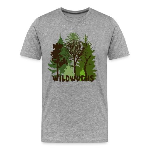 Männer Shirt Wald Baum Bäume Wild Wildwuchs Tiershirt Shirt Tiermotiv - Männer Premium T-Shirt