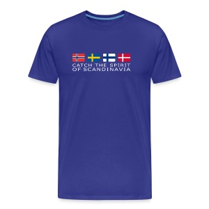 Classic T-shirt CATCH THE SPIRIT OF SCANDINAVIA white-lettered - Men's Premium T-Shirt