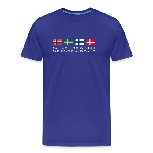 Classic T-shirt CATCH THE SPIRIT OF SCANDINAVIA white-lettered - Men's Premium T-Shirt
