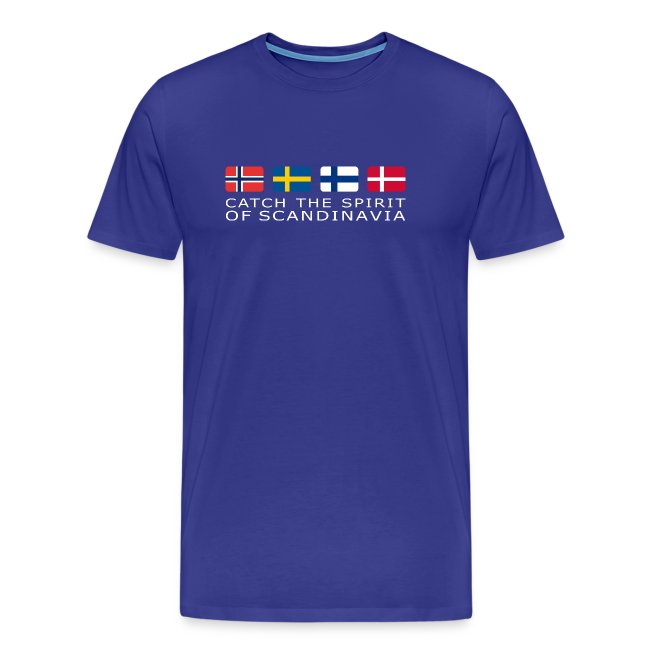 Classic T-shirt CATCH THE SPIRIT OF SCANDINAVIA white-lettered