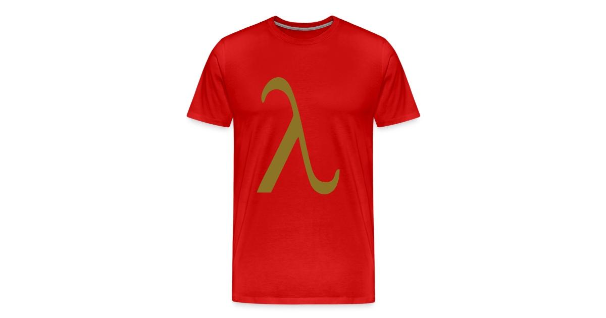 Nuts Arty Clothing Greek Lambda Mens Premium T Shirt