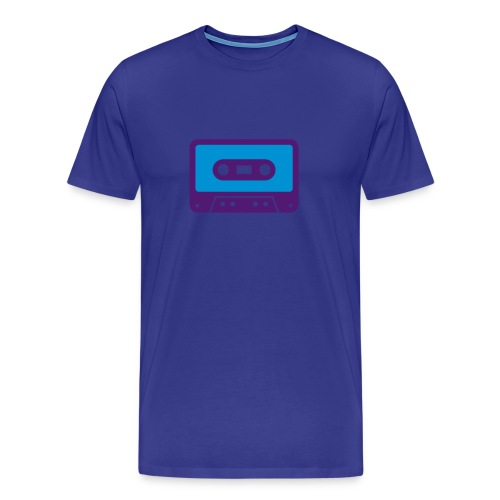 Men's Premium T-Shirt - music,modern,cd,blue