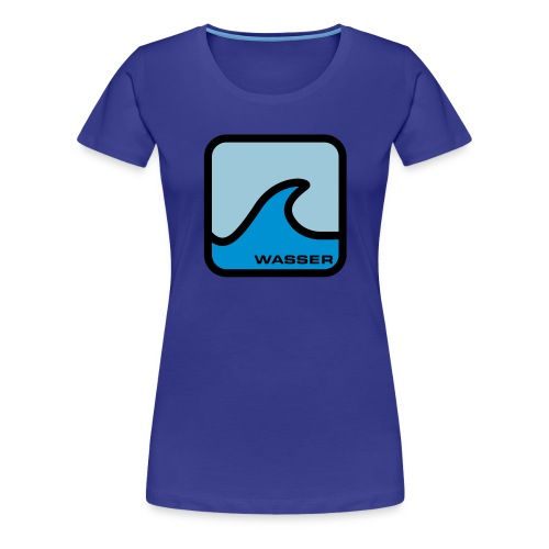 ELEMENTS - WATER (WOMENS TIGHT FITTED T-SHIRT) - Women's Premium T-Shirt