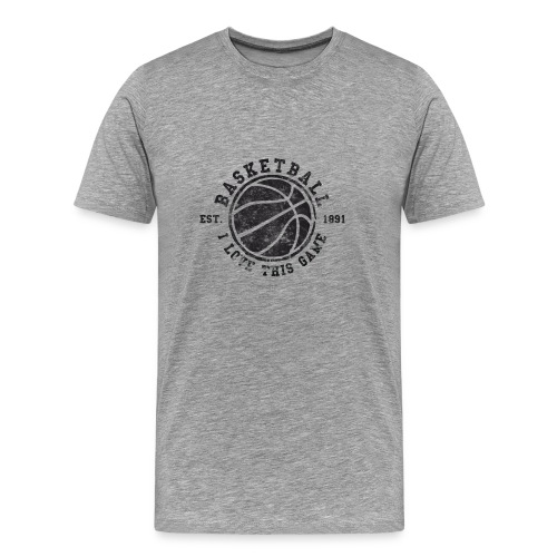 Basketball - I love this game, Vintage, Used Look - Männer Premium T-Shirt