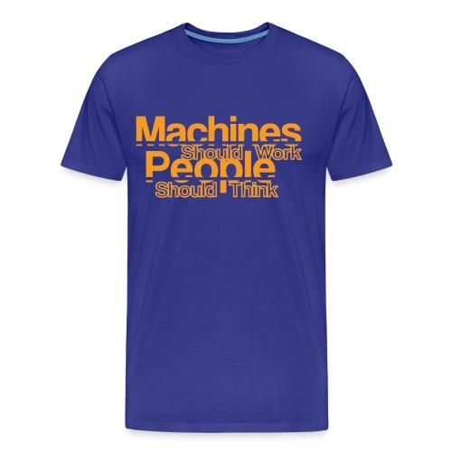 Koszulka męska Premium - machine,ibm