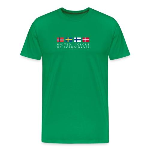 Classic T-Shirt UNITED COLORS OF SCANDINAVIA white-lettered - Men's Premium T-Shirt