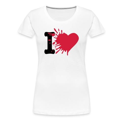 'I Love' - Frauen Premium T-Shirt