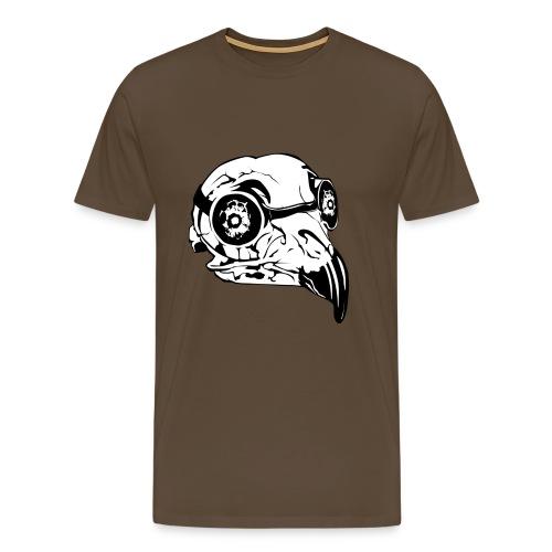 Fågelskalle - Premium-T-shirt herr
