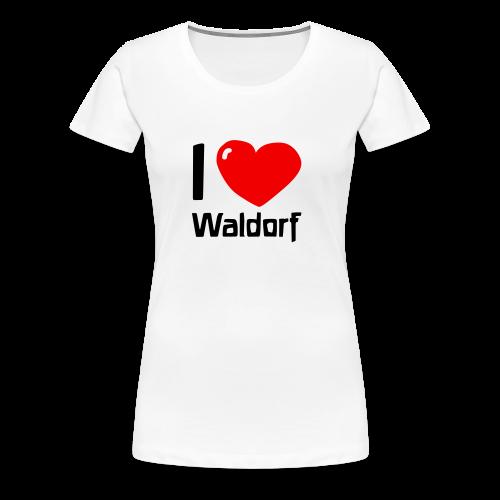 I love Waldorf Girlie Shirt - Women's Premium T-Shirt