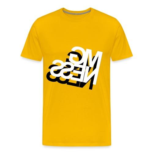 MGness DoubleLogo Yellow classic - Männer Premium T-Shirt