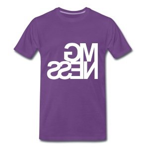 MGness Purple White classic - Männer Premium T-Shirt