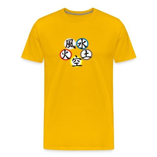 5 Elemente - Männer Premium T-Shirt
