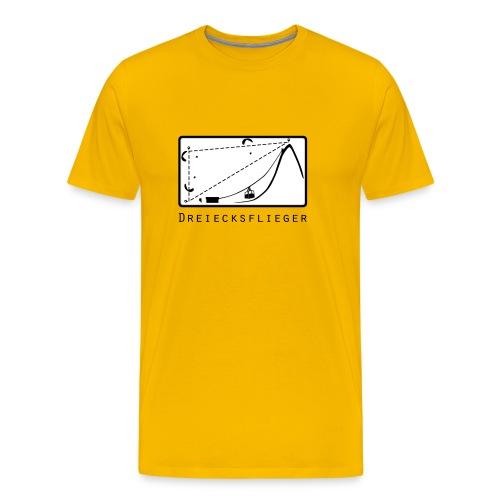 Dreiecksflieger Gelb - Männer Premium T-Shirt