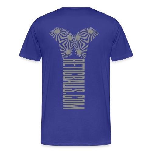 reticballs.com grey back - Männer Premium T-Shirt