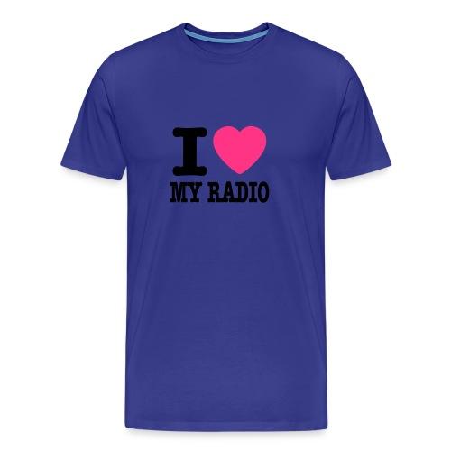 I LOVE my Radio - Premium T-skjorte for menn