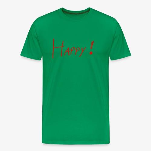 Happy - Männer Shirt klassisch - Männer Premium T-Shirt